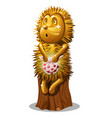 golden statuette in the form of a hedgehog with a vector image vector image
