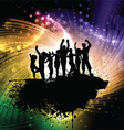 Grunge party people background vector image vector image