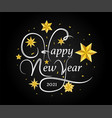 happy new year 2021 card design with stars vector image