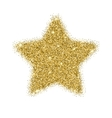 Icon of Five-pointed star with gold sparkles and vector image vector image