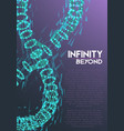 infinity symbol wireframe mesh vector image vector image