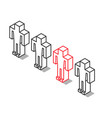 isometric outline unique man vector image vector image