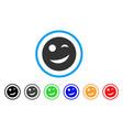 joy smiley icon vector image
