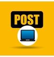 laptop icon post social media vector image