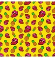Lips and Pineapples Seamless Pattern vector image vector image