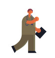 male doctor in uniform holding clipboard patient vector image vector image