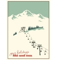 Mountain landscape ski lift vector image vector image