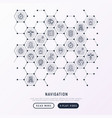 navigation and direction concept in honeycombs vector image vector image