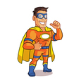 Orange Superhero Cartoon Mascot vector image