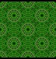 oriental geometrical abstract green mandala vector image vector image