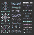 pastel set of design elements in tribal style vector image