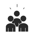 people team community and partnership silhouette vector image vector image