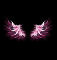 pink angel wings vector image vector image