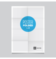 poster four fold vector image vector image