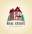 real estate logo cottage vector image vector image
