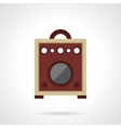 Retro wooden speaker flat color icon vector image vector image