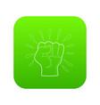 riot icon green vector image vector image