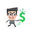 Robber with stolen money vector image vector image