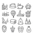 sauna line icons set on white background vector image vector image
