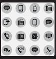 set of 16 editable gadget icons includes symbols vector image vector image
