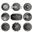 set of premium silver labels vector image vector image