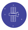 space satellite icon in thin line style vector image