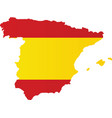 spain flag map vector image vector image