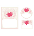 Stylish valentine cards collection vector image