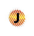 technology letter j vector image