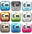 The chemical element Curium vector image vector image