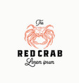 the red crab abstract sign symbol or logo vector image