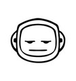 thin line expressionless face icon vector image vector image