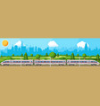 transportation with express train in city vector image