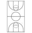 vertical basketball court line vector image