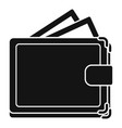 wallet icon simple style vector image vector image
