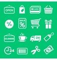 web icon set shopping pictograph vector image