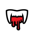 White Vampire Teeth Cartoon vector image