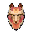 wolfs head low poly geometric polygonal flat vector image vector image
