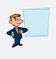 worried white businessman showing vector image vector image