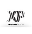 xp x p lines letter design with creative elegant vector image vector image