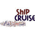 your adventure awaits on a cruise ship text vector image vector image