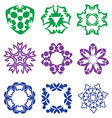 Beautiful colorful abstract flower elements vector image