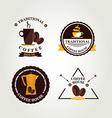 Coffee label icon menu vector image