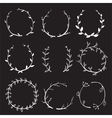 Rustic Laurel and Wreath Collection for Design on vector image