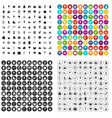 100 childrens parties icons set variant vector image vector image