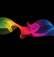 abstract great rainbow waves colorful gradient vector image