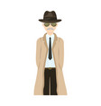 appearance of the detective man detective in a vector image
