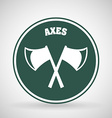 axes icon vector image