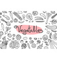 background with various vegetables and an vector image vector image