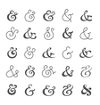 Big ampersand symbol collection vector image vector image
